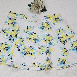 NWT Torrid Scuba Floral Print Skater Skirt